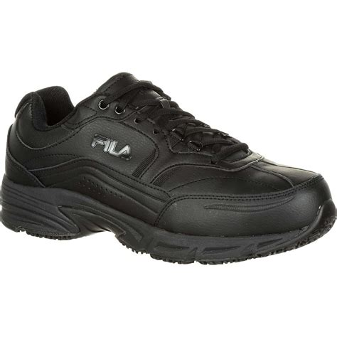 slip resistant athletic shoes fila memory workshift steel toe slip resistant work