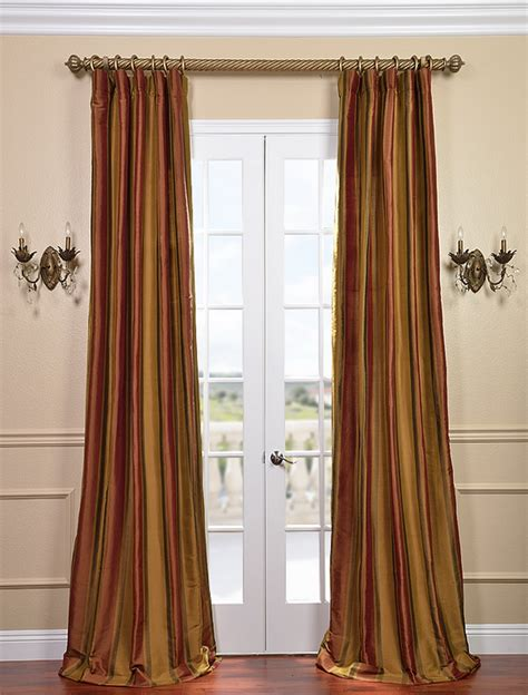 striped silk drapes savings on designer silk stripe curtains