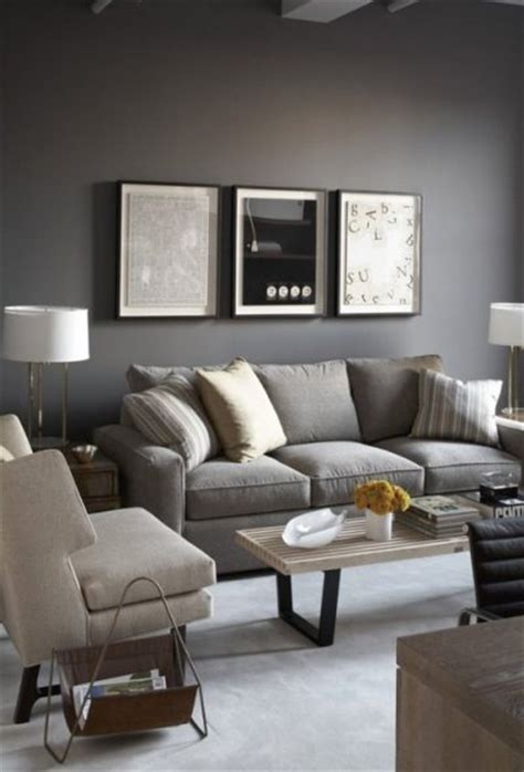 Living Room With Gray Sofa Loving Gray Walls Furniture Gray Couches And Accent Pillows