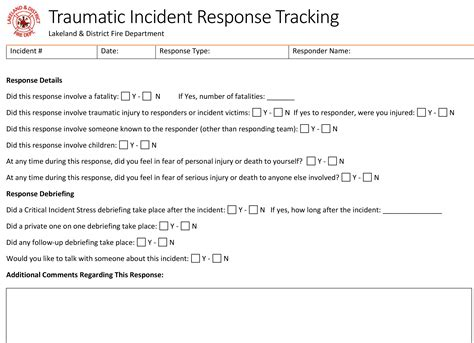 tracking exposure traumatic incident report forms