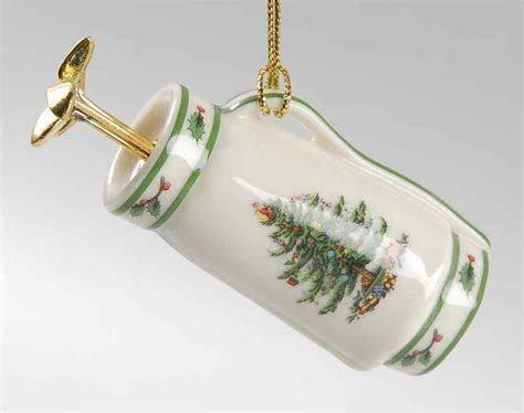 spode christmas tree green trim gold bag ornament 8889448