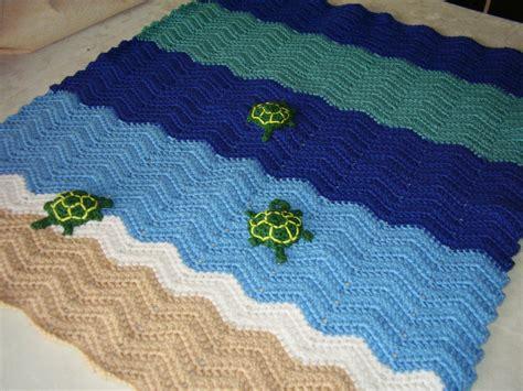 small ocean waves crochet blanket in beautiful blues crochet ocean waves turtle blanket in sand blues by