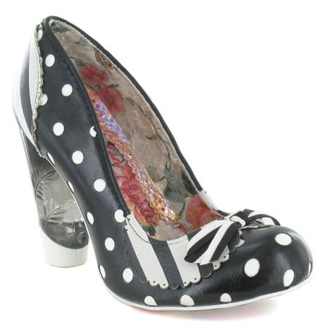 irregular choice dot to dot womens leather high heel court