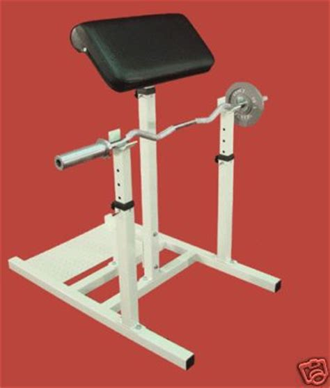 diy preacher bench diy preacher curl with squat stands home gym design