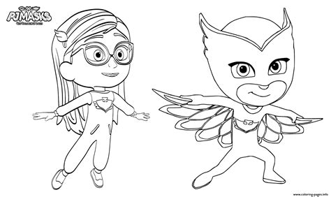 printable coloring pages pj masks pajama hero amaya is owlette from pj masks coloring pages