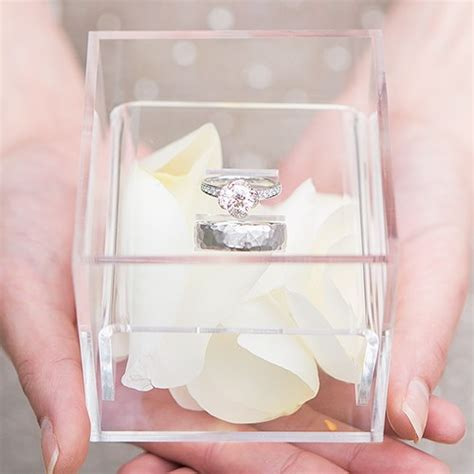 Wedding Ring Box Uk by Unique Alternative Acrylic Wedding Ring Box Confetti Co Uk