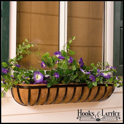window box baskets hay rack window boxes hayrack planters hooks lattice