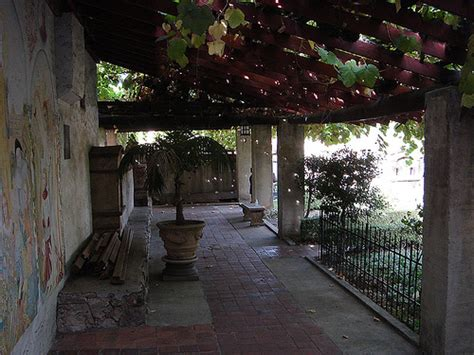 patio mission san gabriel flickr photo