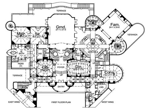 inside castles castle floor plan blueprints castle home floor plans