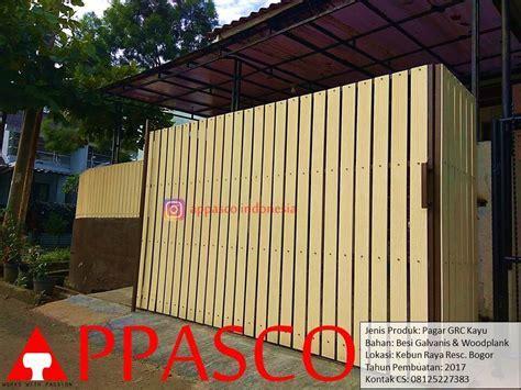 Pagar Minimalis Modern Kayu GRC di Bogor   Jual Kanopi Tralis