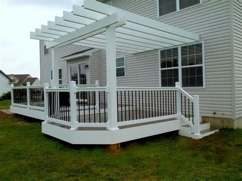 pergola pictures on deck timbertech deck with white pergola