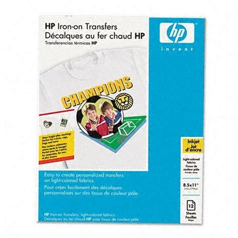 hp printer iron on transfer paper dry fit t shirts hp iron on transfers 8 5 x 11 inch 12 pack
