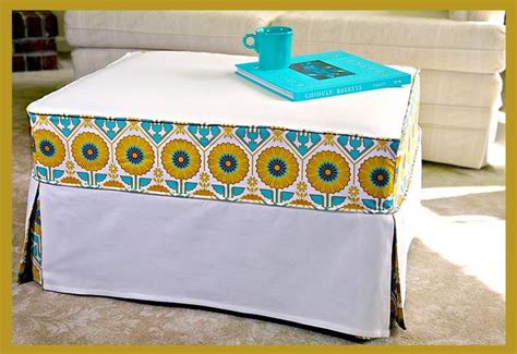 Ottoman Slipcover Pattern Diy Ottoman Slipcover Home Dec Sewing Pinterest Ottoman Slipcover Ottomans And Patterns