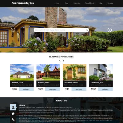 bootstrap themes rental th 232 mes wordpress pour sites d agences immobili 232 res