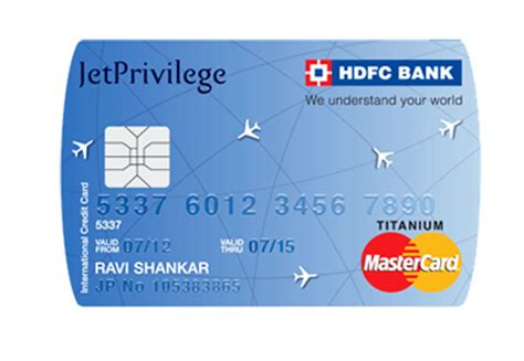 hdfc bank credit card jetprivilege hdfc bank credit cards titanium platinum