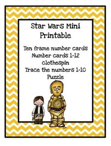 printable star numbers star wars mini printableten frame number cardsnumber cards