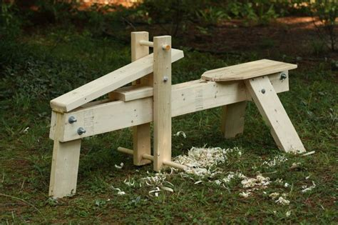 how to make a schnitzelbank shaving horse woodworking