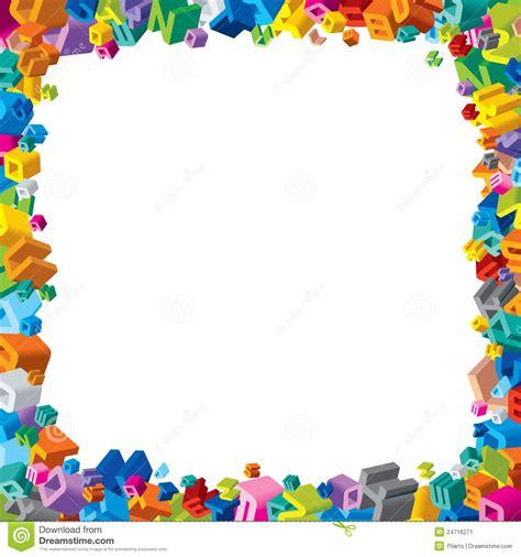printable alphabet letters to frame 8 best images of preschool border frame printables free