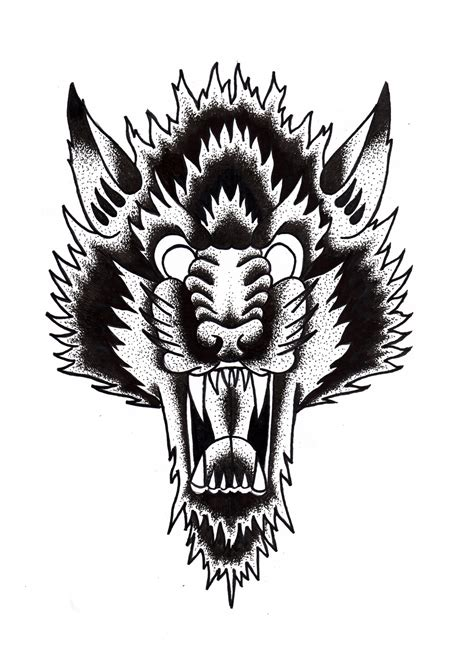 old school wolf tattoo wolf traditional flash collection