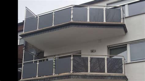edelstahl balkongeländer mit glas balkongel 228 nder edelstahl vsg glas balkon gel 228 nder ebay