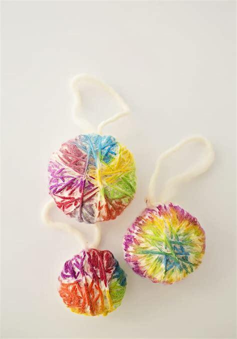 diy ornaments yarn hello wonderful diy yarn watercolor ornaments
