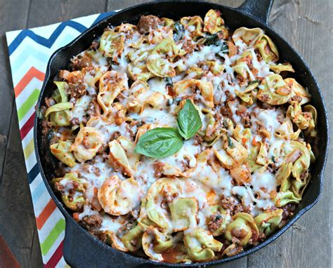 ground beef tortellini spinach skillet