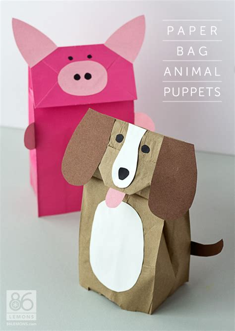 Paper Puppet Crafts - rainy day roundup 10 crafts puppet craft and bag