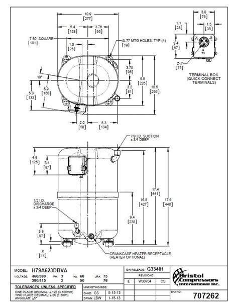 Compressor Hermetic Piston Bristol H79a623dbv Area