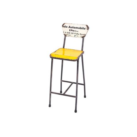 metal drum stool with wood seat recycled metal bar stools drum reclaimed made