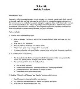 article review template article review