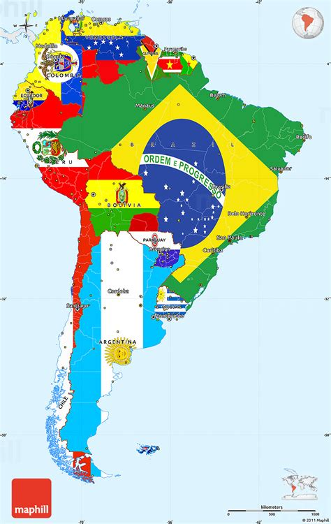 what are the colors of the south flag flag simple map of south america single color outside
