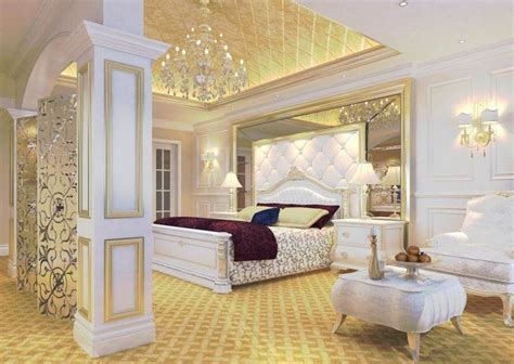 gold and white bedroom ideas with beautiful bedroom