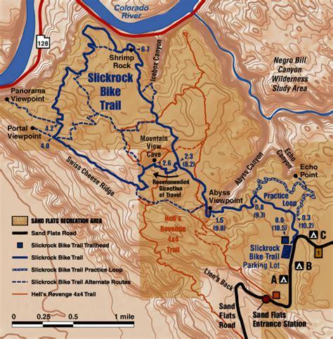 map of moab slickrock trail map moab utah mappery