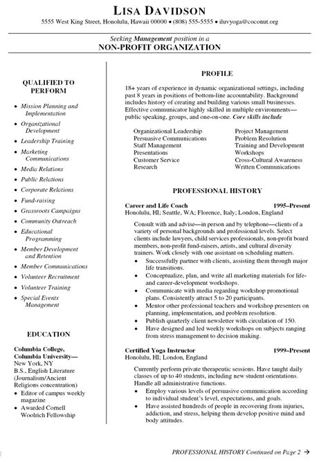 Resume Template Coaching by Coaching Resume Templates Sle Resume Cover Letter Format