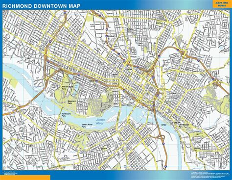 downtown map world wall maps store richmond downtown map more than