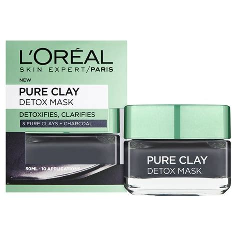 L Oreal Detox Mask by L Oreal Clay Detox Mask Black 50ml Groceries