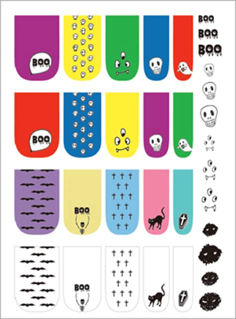 printable nail stickers paper small good things 187 halloween printable nail decal