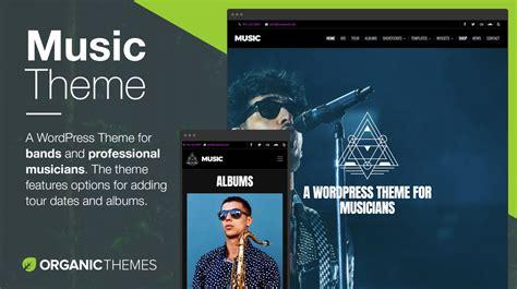 music wordpress theme themes templates