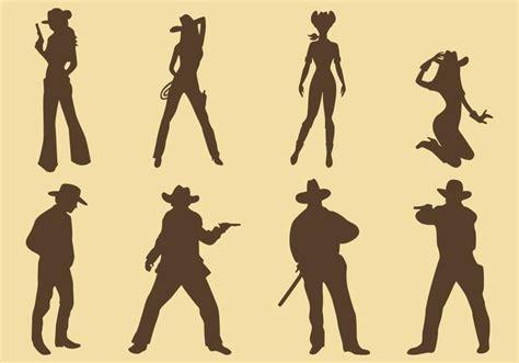 cowgirl silhouette vector free download two beautiful silhuetas de vaqueiras e cowboys download vetores e
