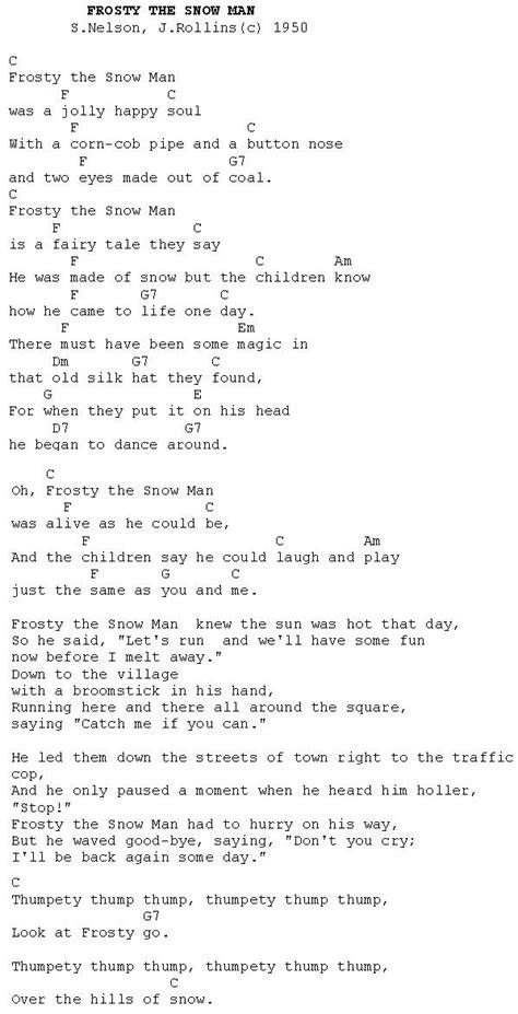 printable lyrics for frosty the snowman frosty the snowman lyrics new calendar template site