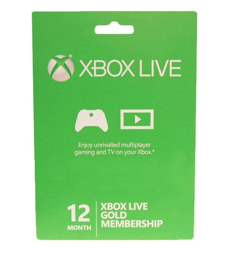 Xbox Live 12 Month Gold Membership Gift Card - xbox 360 xbox one live 12 month gold membership card subscription new ebay