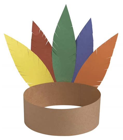 indian hat template kindergarten at play thanksgiving crafts