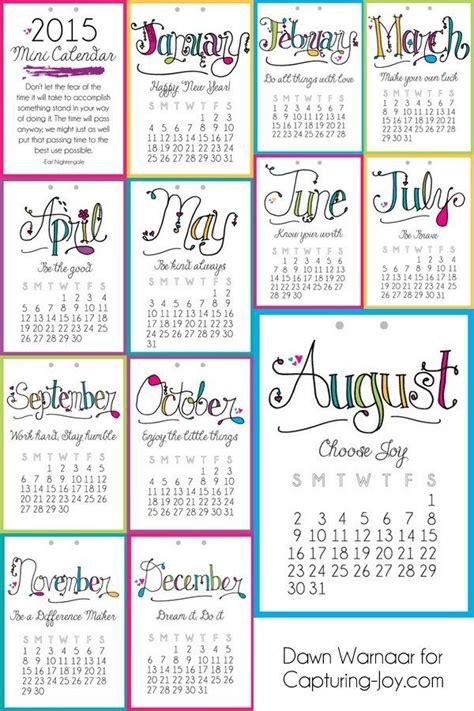 Mini Calendar 2015 Printable Mini Calendar Designs 174