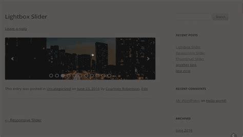 tutorial lightbox wordpress how to create a wordpress slider with lightbox popup