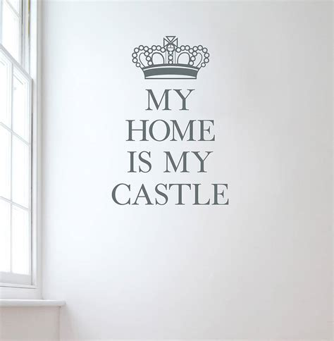 my home is my castle wall sticker by leonora hammond