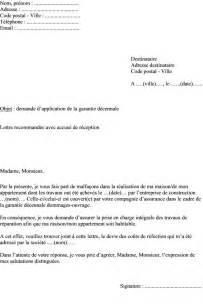 Exemple Lettre De Garantie Des Travaux Modele Mise En Demeure Garantie Decennale Document