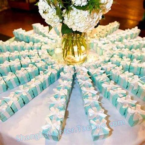 blue centerpiece boxes blue wedding favor box diy th040 and groom