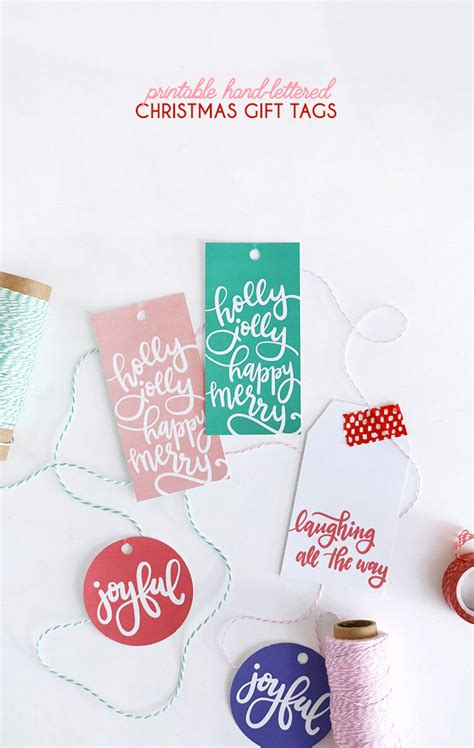 hand lettered free printable christmas gift tags persia lou