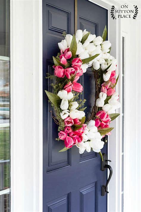 Diy Wreaths To Decorate Your Front Door For Easter Diy Wreaths Front Door
