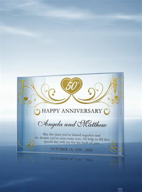 Wedding Anniversary Awards by 17 Best Ideas About Golden Anniversary Gifts On